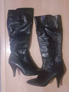 Original PreLoved NINEWEST Black Boots from Canada