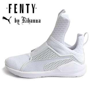 White fenty x puma trainers
