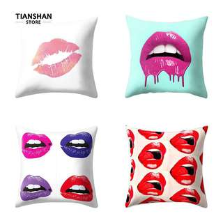 Lips cushion cover