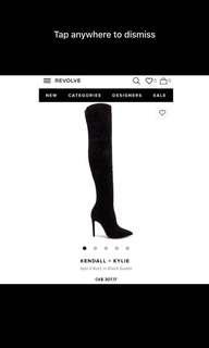 Kendal + Kylie thigh high boots