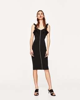 Zara zipper dress