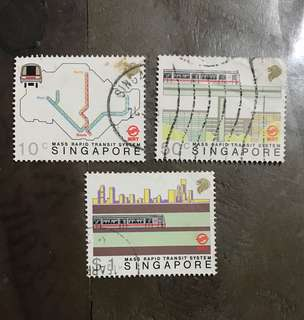 Singapore stamps 1988 MRT Used Set