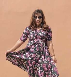 Lilac Rose Dress