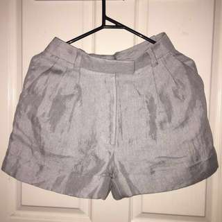 LXE Grey High-Waisted Shorts
