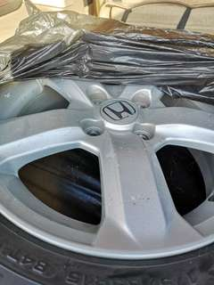 Honda stock mags and tires