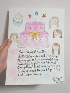 [CUSTOMISE] Cartoon Portraits Birthday Cards