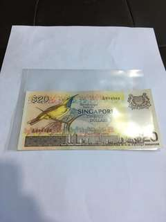 Spore Bird Series $20 Banknote