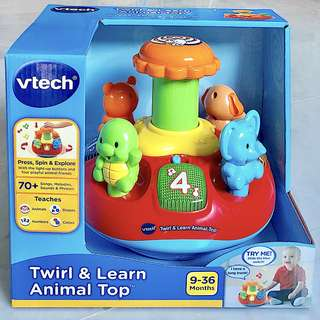 (Restocked) VTech Twirl & Learn Animal Top (Brand New)