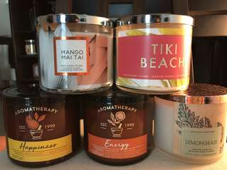 Bath & Bodyworks 3 wrick Candle