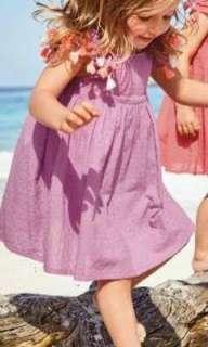Purple Beach Dress (3-6m)