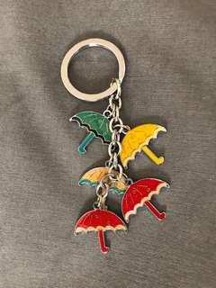 Keychain with umbrellas