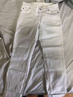 7 for all mankind skinny jeans white size 16