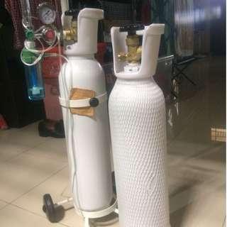 Tabung Oksigen Respirator + Roda untuk bawa