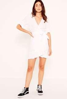 Glassons Linen Wrap Dress