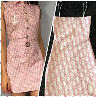 LOOKING FOR: Dior monogram dress and Fendi zucca dress