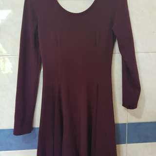 Bodycon Dress (maroon)