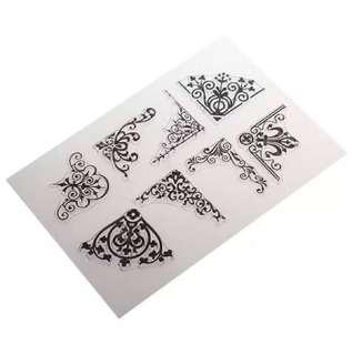 🌸 Vintage Edge Pattern Design Clear Stamp