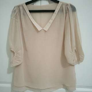 Chiffon top - cream