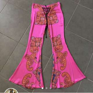 Lenni the label pink flare pants