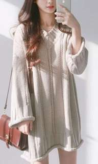 Knitted pullover dress