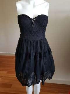 Brand New Ally black lace dress