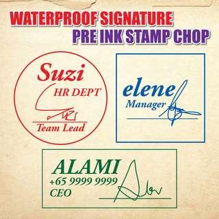 Signature Stamp waterproof