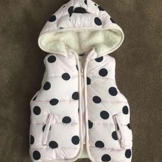 SEED wooly winter puffer vest jacket 3 year