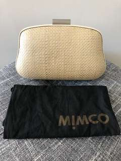 Mimco clutch bag - light gold and cream