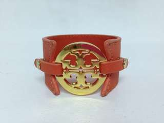 Authentic Tory Burch Logo Wide Double Snap Cuff