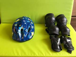 Kids Helmet with Free Elbow & Knee Pads & Hand Protector