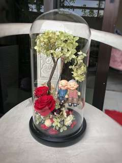 Preserved flowers in a Jar with LED light (limited edition )