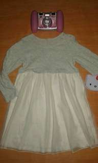 Longsleeves Soft Tulle Dress