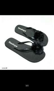 Sandal spons teplek bludru
