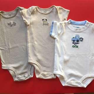 (6-12 mos) Carter's onesies, set of 3