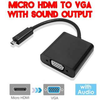 🚚 TVD032 Micro HDMI to VGA Converter with Sound Support #CarouPay