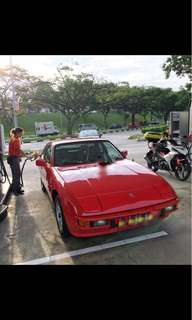 Vintage Porsche 924 Car Rental for Events/Weddings/Photoshoots