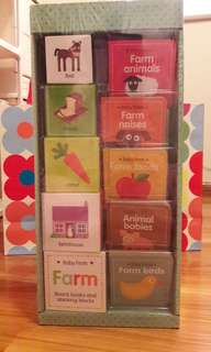Baby Firsts: FARM Board Books and Stacking Blocks