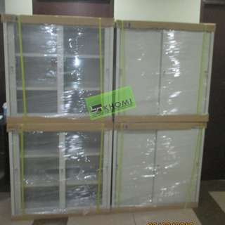GLASS SLIDING CABINET UPPER PART METAL SLIDING LOWER PART