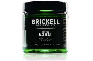 [IN-STOCK] Brickell Men's Renewing Face Scrub for Men, Natural & Organic Exfoliating Facial Scrub - 4 oz
