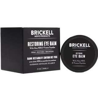 [IN-STOCK] Brickell Men's Restoring Eye Cream for Men, Natural & Organic Anti Aging Eye Balm To Reduce Puffiness , Wrinkles , Dark Circles , & Under Eye Bags - .5 oz