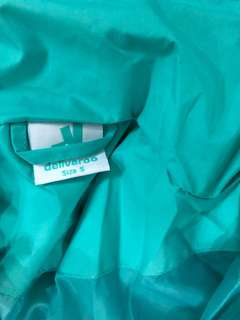 Deliveroo raincoat Size S