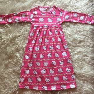 NEW! Lebaran SALE Dress Muslim Hello Kitty Pink
