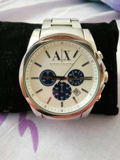 Beautiful white armani exchange watch