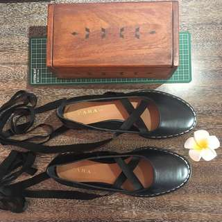 Zara TRF US 6-7 Leather Shoes