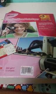 Photopaper,red plastic folder,art paper