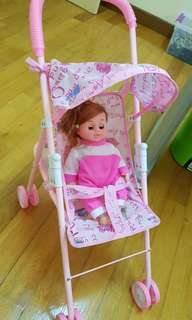 Toy Stroller with Doll