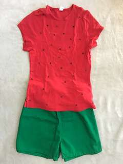 DIY Watermelon Costume for girls ( 8-9yo)