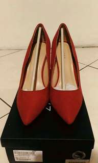 ZALORA (RED METAL PUMPS)