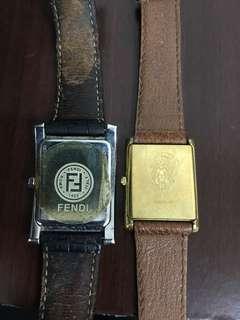 FENDI & GUGGI vintage watches