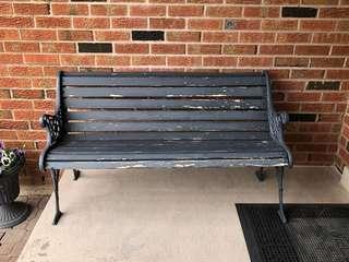 Patio Bench (Grey)